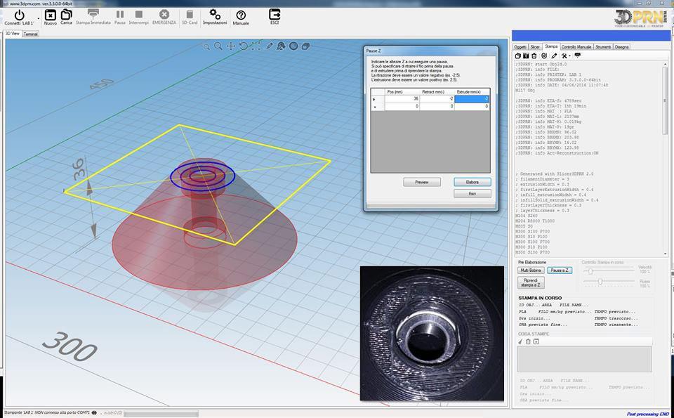 Software per stampante d inserimento inserti