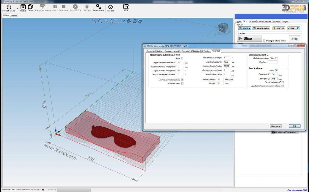 Software per stampante d stampa ad arco