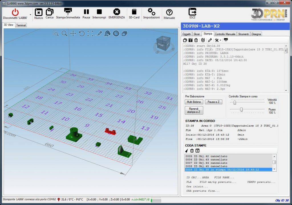 software per stampante 3D Coda di stampa 1024x719