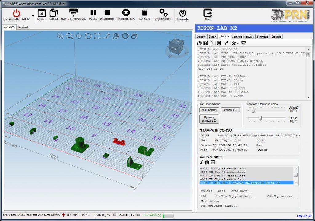 software per stampante d Coda di stampa